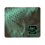 Coy Green Backed Print Mouse Pad - huronshop1