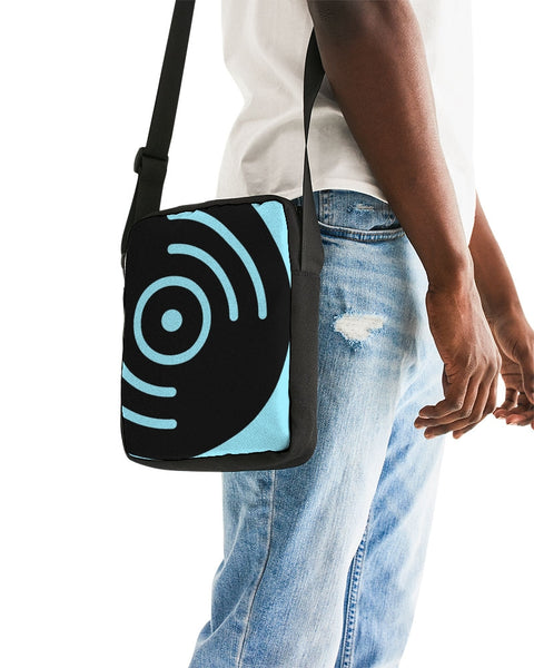Light Blue Vinyl Icon - Messenger Pouch - huronshop1