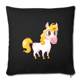 "Cutsie Cartoon Unicorn Throw Pillow Cover 18"" x 18"" 