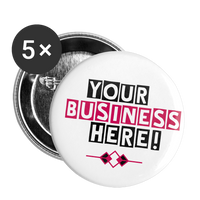 CUSTOM! Business Band or Brand Custom Buttons || Large 2.2'' (5-pack) || - huronshop1