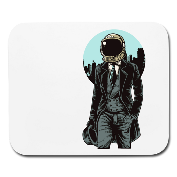 London Space-Gentleman - White Horizontal Mouse Pad || Neat 1800s Geek / Computer / Gamer Gift! || - huronshop1
