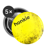 "Yellow Scratch ""honkie"" - Buttons small 1'' (5-pack) - white"