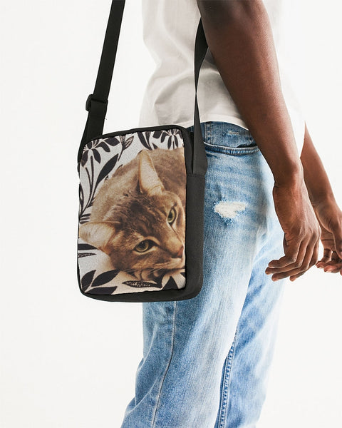 Resting Graceful Cat -  Messenger Pouch - huronshop1