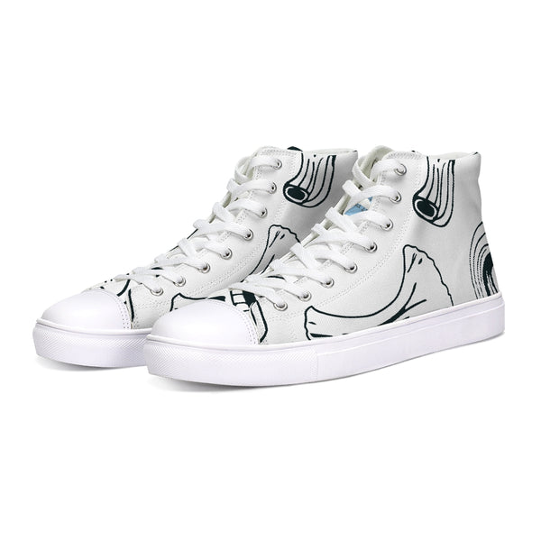 Use Your Noodle Hightop Canvas Shoe - huronshop1