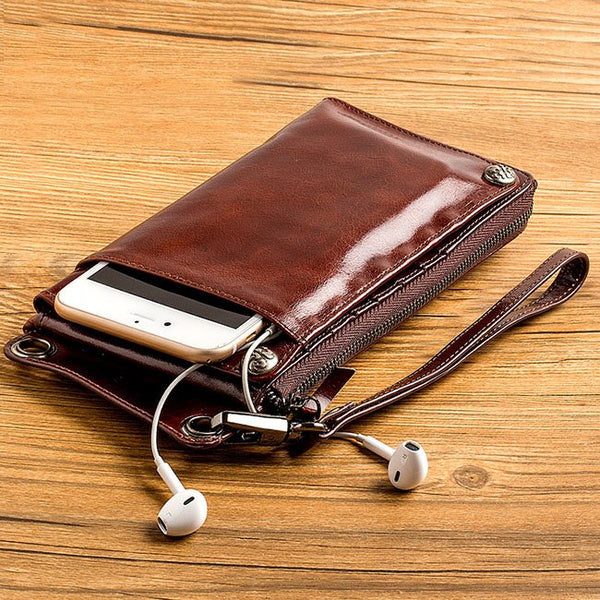 Genuine Leather iPhone Wallet - huronshop1