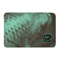 Coy Green Backed Print Bath Mat - huronshop1