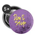 Don't Stop Purple / Yellow - Buttons large 2.2'' (5-pack) - huronshop1