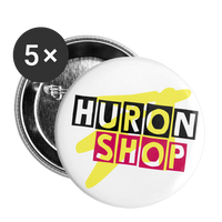 HuronShop Color Pop Yellow Pink Button 5pk || Buttons large 2.2'' (5-pack) || - huronshop1