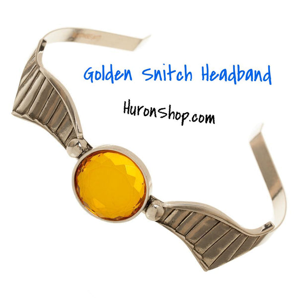 Golden Snitch Headband || Harry Potter Hair Accessories || Great Movie Fashion Accessory - huronshop1