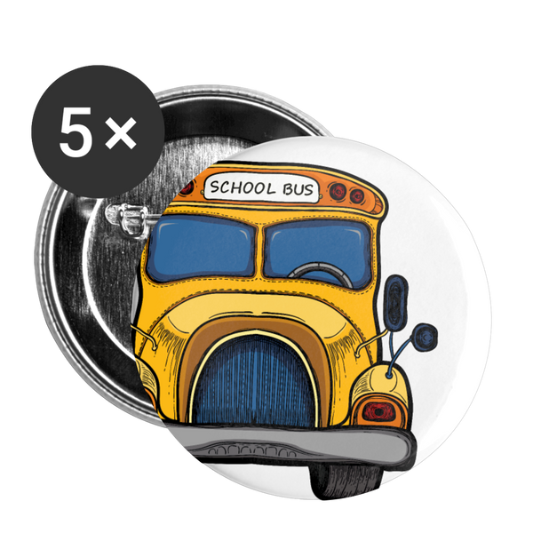 "Large 2.2"" Bus Button 5pk 