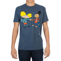 Nickelodeon: Hey Arnold! Men's Navy Tee Shirt || Mens 90s Cartoon T-Shirt || - huronshop1