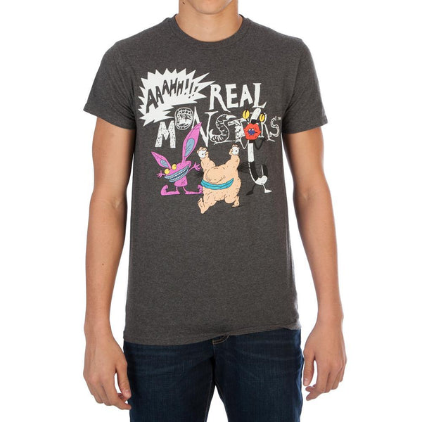 Aaahh!!! Real Monsters T-Shirt | 90s Retro Mens or Womens Cartoon Tee - huronshop1