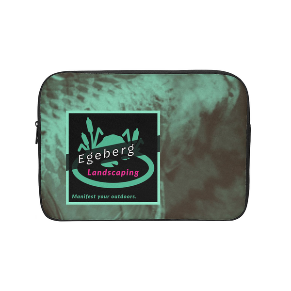 Coy Green Backed Print Laptop Sleeve - huronshop1