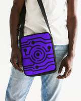 Purple Tech Messenger Pouch - huronshop1