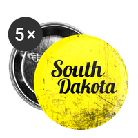 South Dakota on Yellow Scratch - Buttons large 2.2'' (5-pack) - huronshop1