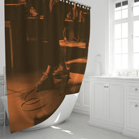 "Feet Meet Stage - Musician / Hip-Hop Artist Mens T-shirt Shower Curtain 72""x72"" - huronshop1"