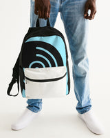 White Pocket Blue Vinyl Icon -  Small Canvas Backpack - huronshop1