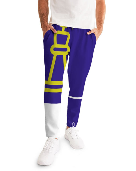 King of the Moment - Purple Peace and Time   Men's Joggers - huronshop1