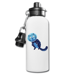 Space Cat in Blue - Water Bottle - huronshop1