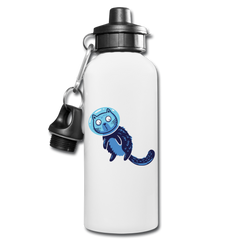Space Cat in Blue - Water Bottle