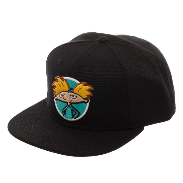 Nickelodeon Hey Arnold Hat Nickelodeon Snapback Hat || Black Hey Arnold! 90s Retro Hat || - huronshop1