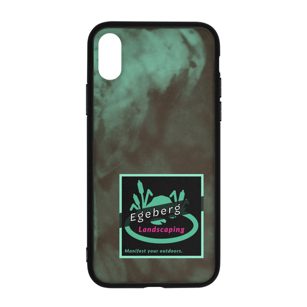 Coy Green Backed Print iPhone X Case - huronshop1