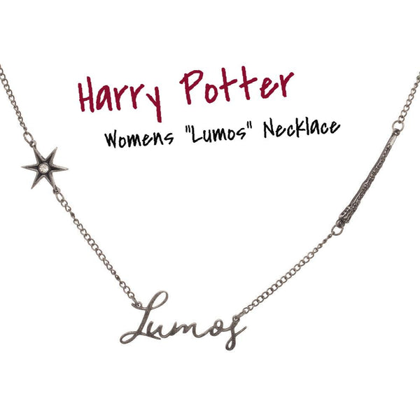 "Womens ""Lumos"" Harry Potter Necklace 