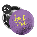 Don't Stop Purple / Yellow - Buttons small 1'' (5-pack) - huronshop1