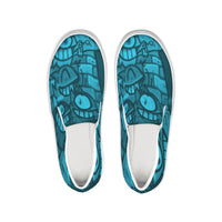Freaky Fun Graffiti Blues Slip-On Canvas Shoe - huronshop1