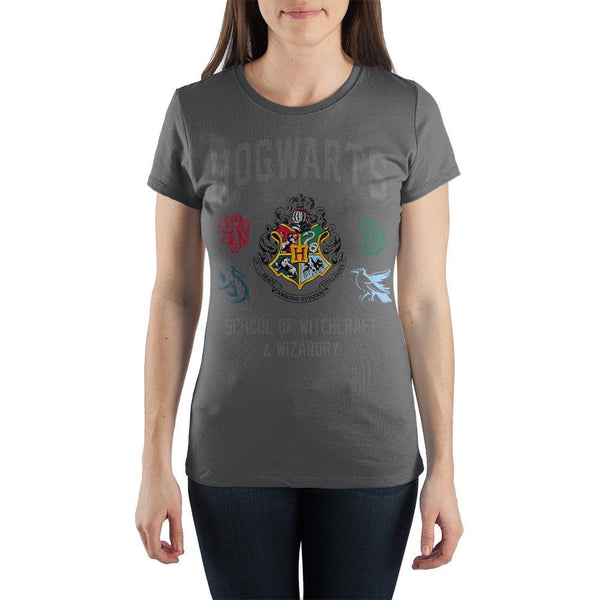 Harry Potter TShirt School of Witchcraft and Wizardry Juniors Graphic Tee - huronshop1