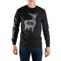 Harry Potter Patronus Charm Deer Men's Long Sleeve Shirt - huronshop1