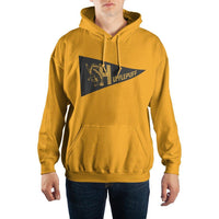 Harry Potter Hufflepuff Pennant Pullover Hooded Sweatshirt - huronshop1
