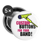 "Custom Buttons for Your Band! || Get Merch that Pops for your bands next gig! || 1"" Buttons (5ea) - huronshop1"