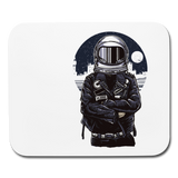 Leather Jacket Spaceman - White Horizontal Mouse Pad || Great Gift for Tech Guy or Space Lover!! || - huronshop1