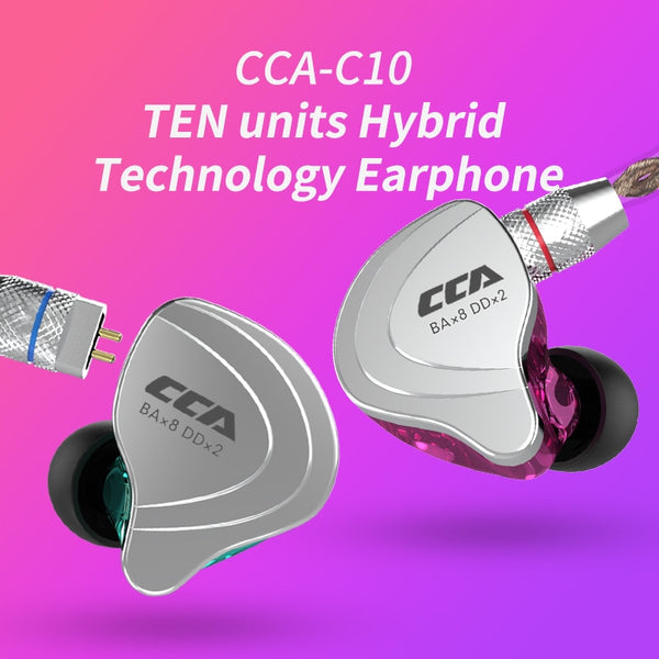 CCA C10 High-End Audio In-Ear Sports Headset || Earphone Earbud - huronshop1