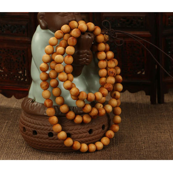 NEW 2019! Sandalwood Prayer or Meditation Beads Natural Wood Look || Mens or Womens Buddhist 108ct 6mm Bead String || - huronshop1