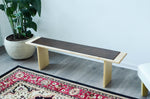 Minimalist Leather Bench - Sleek Scandinavian - huronshop1