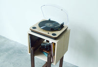 Floating Squares Side Table || Vinyl Record Center - huronshop1