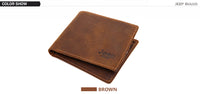 Mens JEEP BULUO Leather Wallet || Genuine Cow Hide makes this Men's Fashion Wallet Stand Out! || Business Casual - huronshop1