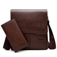 Mens JEEP BULUO Leather Messenger Bag || Business Executive Bag | Gift for Him! ZH1505/8068 - huronshop1