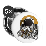 Tiny Bike Astronaut Business Buttons - Small 1'' (5-pack) || Neat Space 5pk Pins - Great Gift for Guys!! || - huronshop1