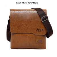 Mens JEEP BULUO Leather Messenger Bag || Sleek Business Casual Styling || Great Quality Office or Home Fashion for Him - huronshop1