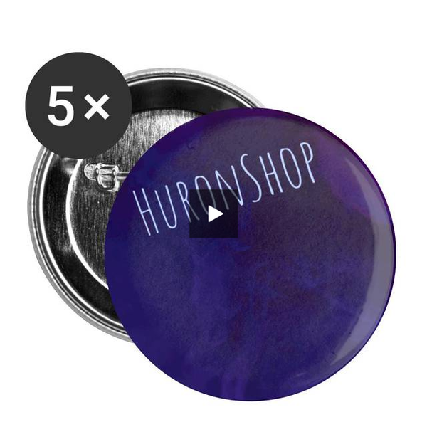 HuronShop Comic Pop Buttons small 1'' (5-pack) - huronshop1