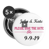 Custom Pink 5pk || We Design Promo Buttons for You and Your Business! Buttons large 2.2'' (5-pack) - huronshop1