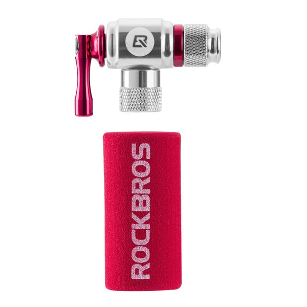 ROCKBROS NEW SLEEK! Mini Bike Pump || On the Go/Emergency CO2 Tire Inflator || Mens or Dad Gift! Red - huronshop1