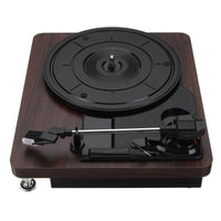 Wood Grain Record Player 33RPM - Vinyl Vintage Look Record Player - huronshop1