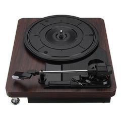 CHIC! Wood Grain Record Player 33RPM - Vinyl Vintage Look Record Player