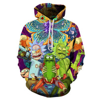 Rick and Morty Hoodies || Unisex Sweatshirt Men || Cartoon - Fun Kids Designs || - huronshop1