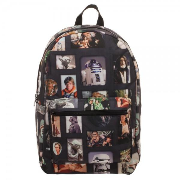 Star Wars Multi-Photo on Black Backpack || Great Gift for the Star Wars Lover || Movie Bag Pack - huronshop1