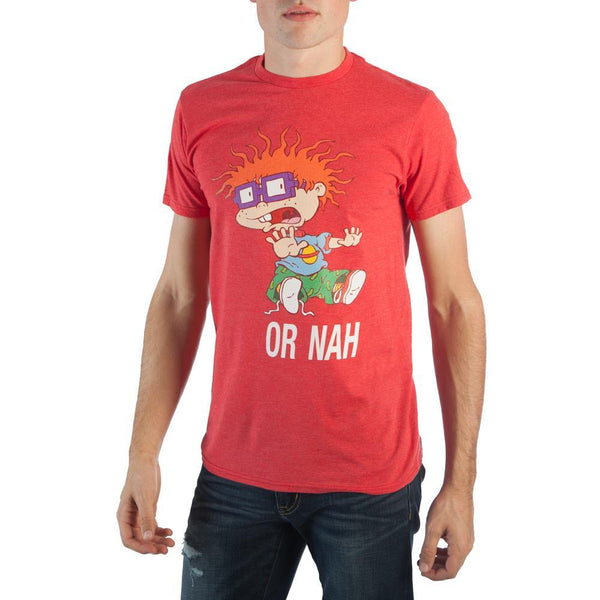 Or Nah Chucky Mens T-Shirt || Red 90s Cartoon Mens Tee - Retro! || - huronshop1